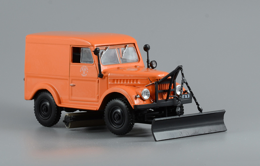 GAZ-69 T-3 - pavement cleaning machines, 1/43