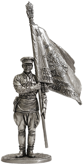 Senior sergeant of the NKVD border troops with a banner, 1939-43, USSR; 54 mm