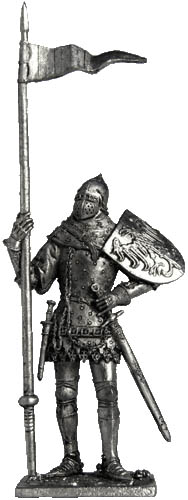 Bohemian knight. The second half of the XIV century; 54 mm
