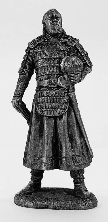 Mongolian noble warrior, 12th century; 75 mm