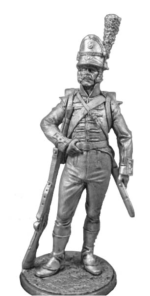 Private 1st battalion of light infantry (Cazadores). Portugal, 1808-09; 54 mm