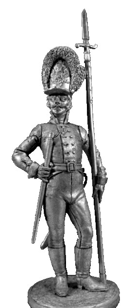 NCO of the Life Guards Preobrazhensky Regiment. Russia, 1802-06; 54 mm