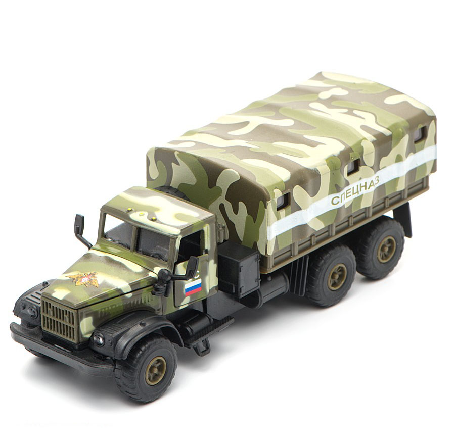 KrAZ-255B - Soviet and Ukrainian military truck; 1/56