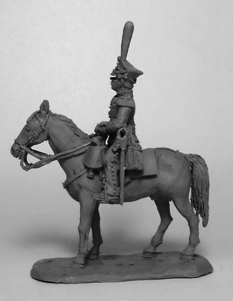 Officer of the Guards Regiment on horseback. Russian Empire, 1812-14; 1/72 (20 mm)