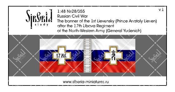 Banner of the 17th Libava Regiment of General Yudenich's army, 1919; 1/48 (28 mm)