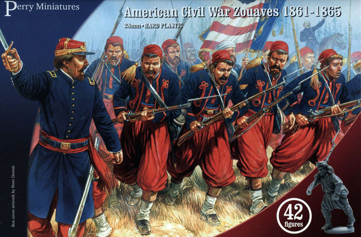 American Civil War Zouaves 1861 - 1865; 28 mm