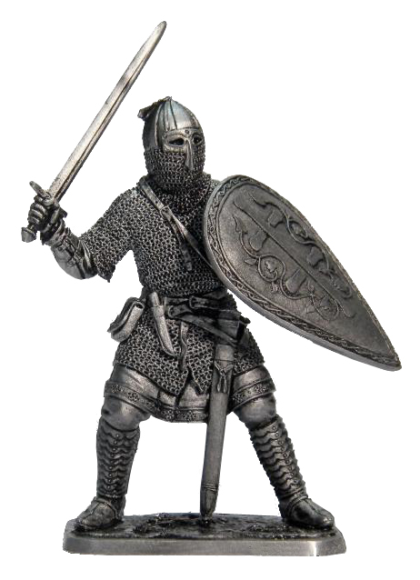 Russian warrior, 13th century; 54 mm