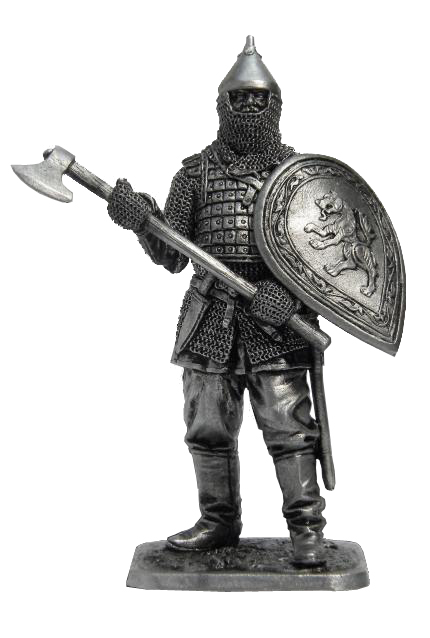 Russian warrior, 14th century; 54 mm