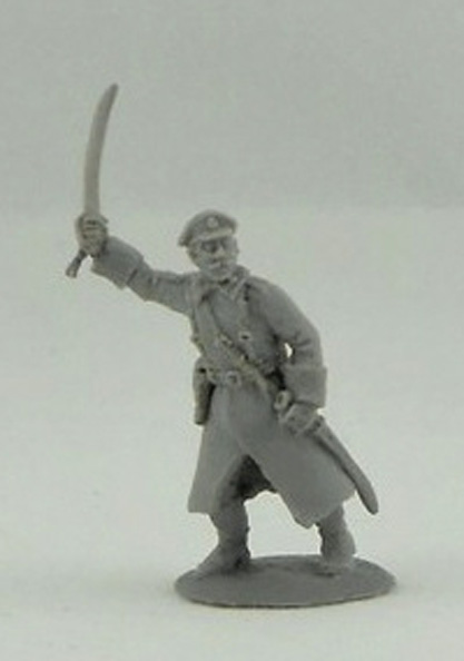 Officer in an greatcoat; 28 mm