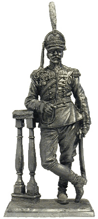 Colonel of the Life-Guards Dragoon Regiment in full uniform. Russia. 1914