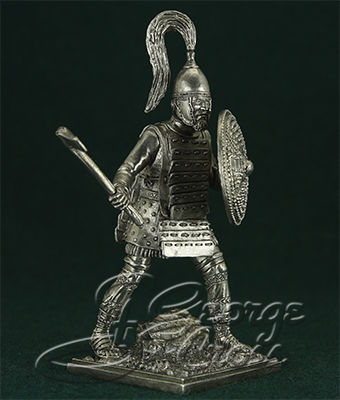 Warrior from the Agamemnon squad. Trojan War 13-14 century BC; 54 mm