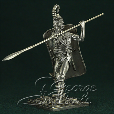 Warrior from the Achilles squad. Trojan War 13-14 century BC; 54 mm