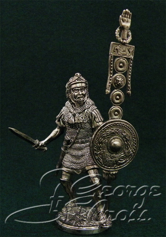 Signifer in combat. 1st century BC; 54 mm