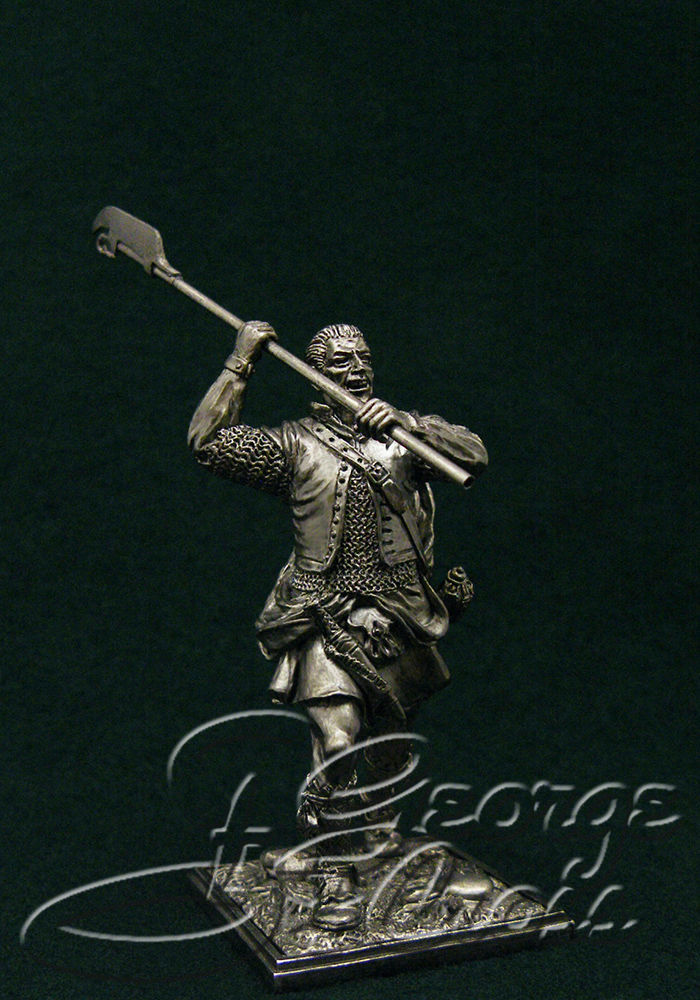 Scotsman with a halberd, 17-18 century; 54 mm