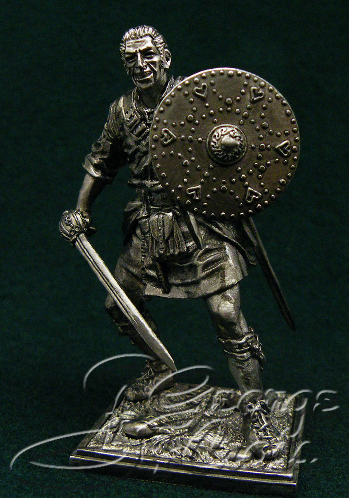 Scottish Highlander, 17-18th century; 54 mm