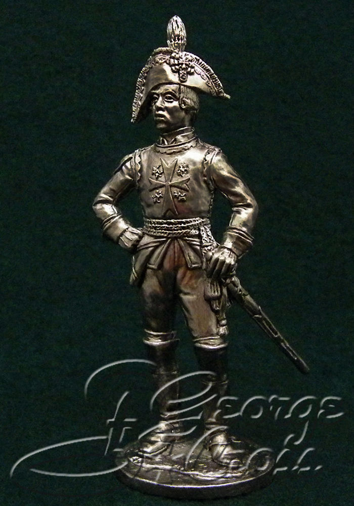 Officer Cavalier Guards regiment. Russia, 1795; 54 mm