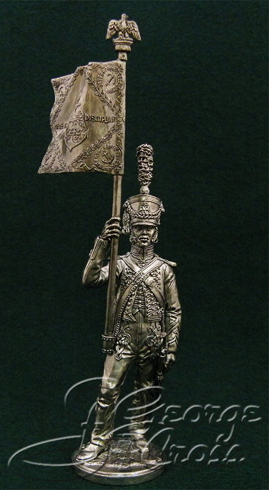 Standard-bearer Napoleonic Guard Seamen. France, 1809-11; 54 mm