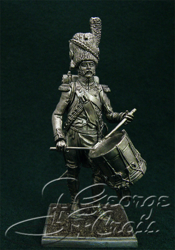 Battalion drummer 3rd (Dutch) Regiment foot grenadier Imperial Guard. France, 1810; 54 mm