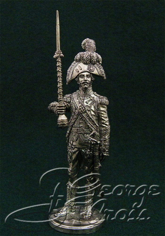 Drum-major of the 1st regiment of foot grenadiers of the Imperial Guard. France, 1805; 54 mm
