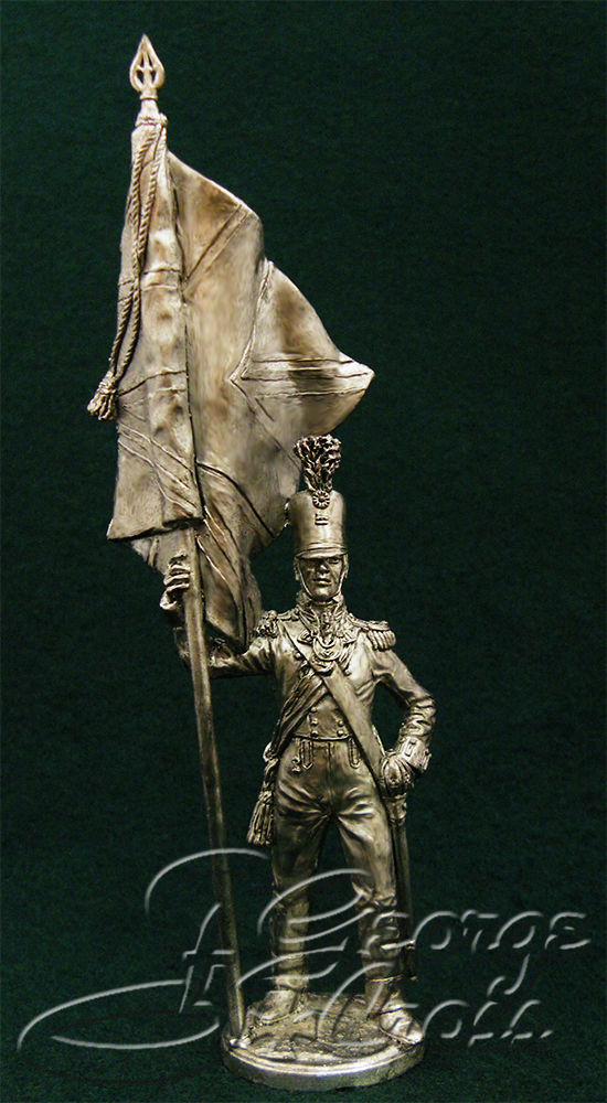 Officer-bearer. 92nd Regiment Gordon. Great Britain, 1815; 54 mm