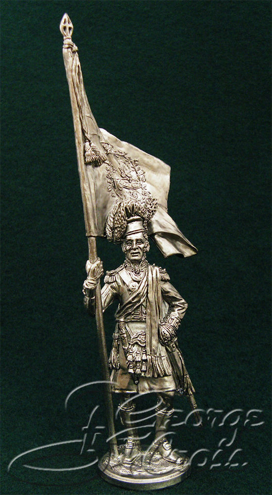 Standard Bearer. 92nd Regiment Gordon. United Kingdom, 1815; 54 mm