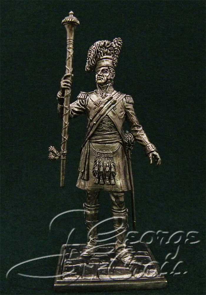 Tambour-Major. 92nd Gordon regiment. United Kingdom, 1815; 54 mm
