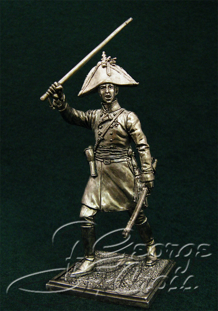 Officer of the German regiments Line Infantry. Austria-Hungary, 1805-14; 54 mm