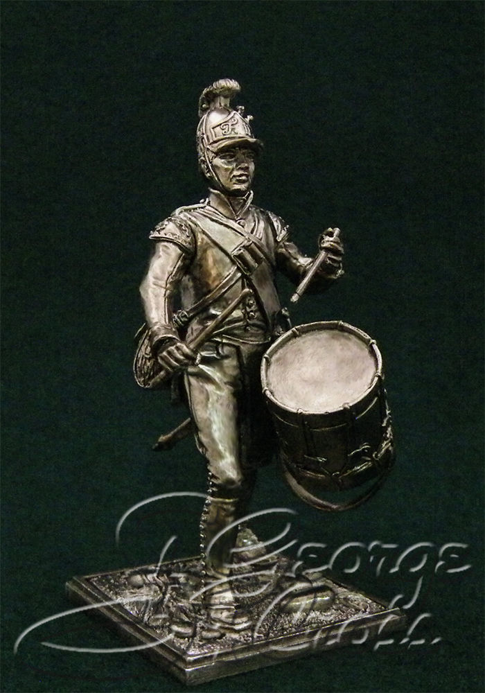 Drummer German regiments of infantry of the line. Austria-Hungary, 1805-14; 54 mm