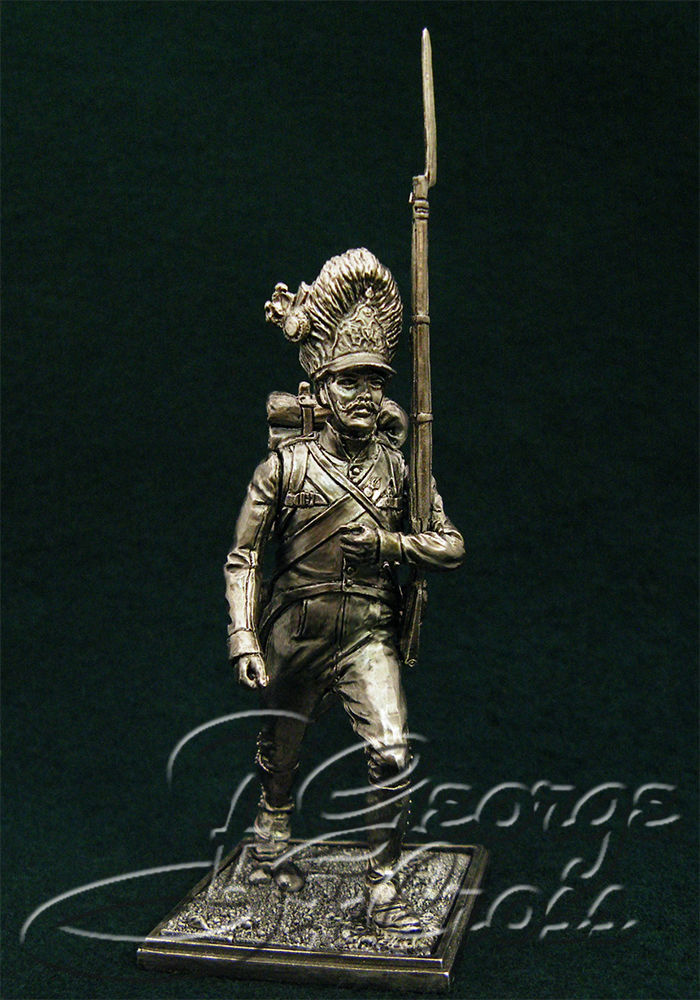 Private Grenadier Company German regiment line infantry. Austria-Hungary, 1805-14; 54 mm