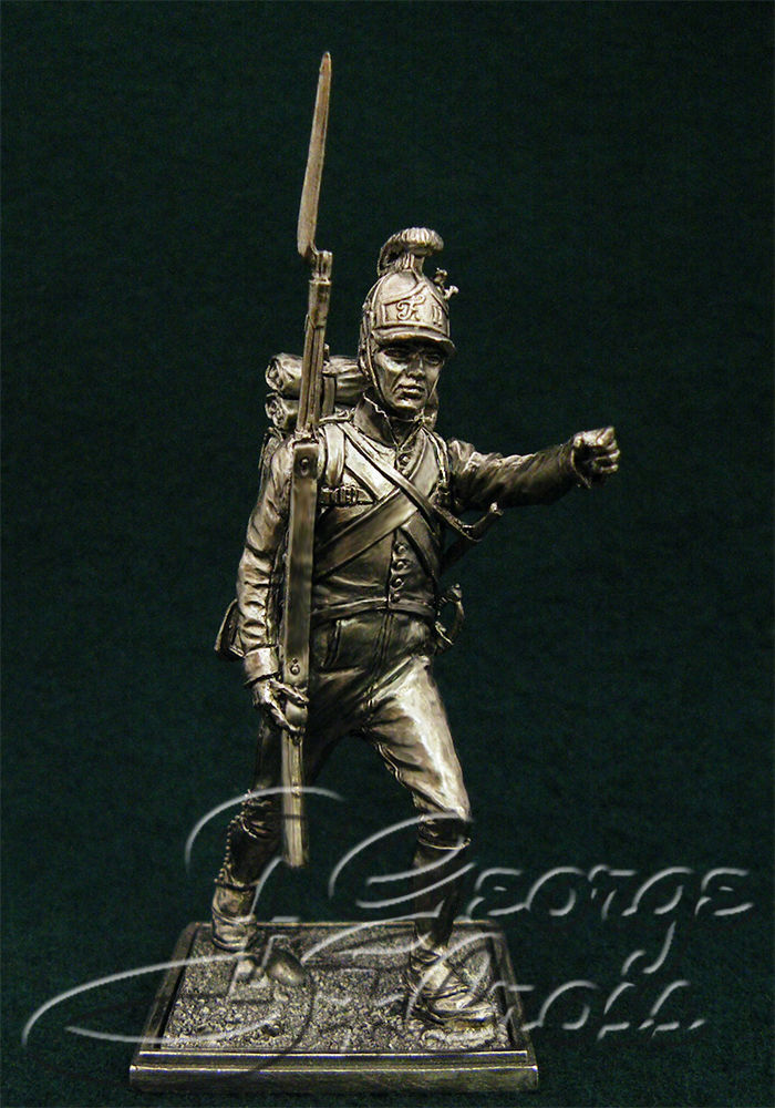 Private German regiment line infantry. Austria-Hungary, 1805-14; 54 mm