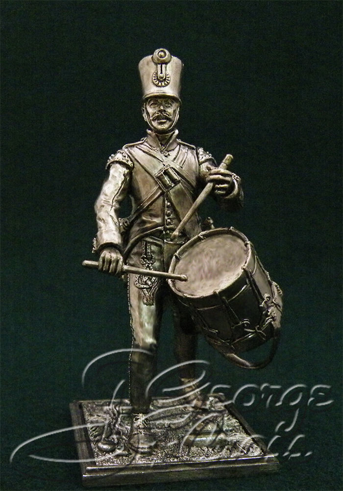 Drummer Hungarian regiment line infantry. Austria-Hungary, 1805-14; 54 mm