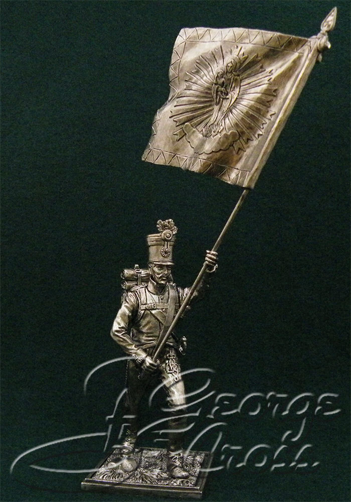 Standard Bearer Hungarian regiment line infantry. Austria-Hungary, 1805-14; 54 mm