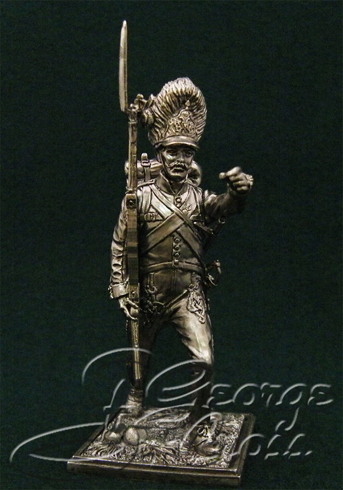 NCO Grenadier Company Hungarian regiment line infantry. Austria-Hungary, 1805-14; 54 mm