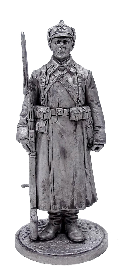 Red Army soldier in the winter field uniform. 1939-41, USSR; 54 mm