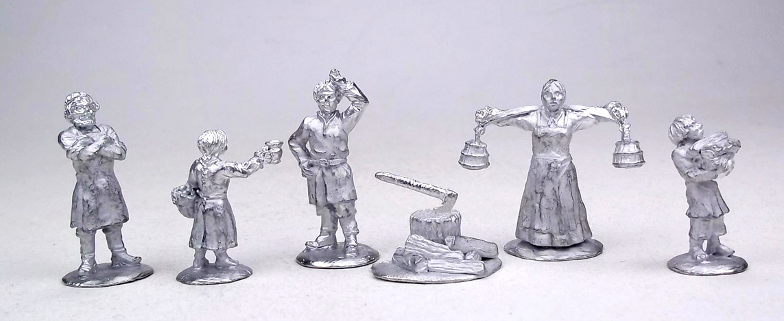 Russian peasants (№2) XIX - early XX centuries; 28 mm