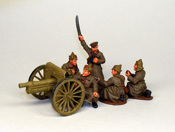 Gun with crew. Red Army, 1920-21; 28 mm