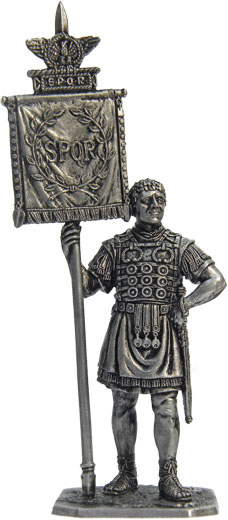 Roman standard bearer, 1-2 centuries BC; 54 mm