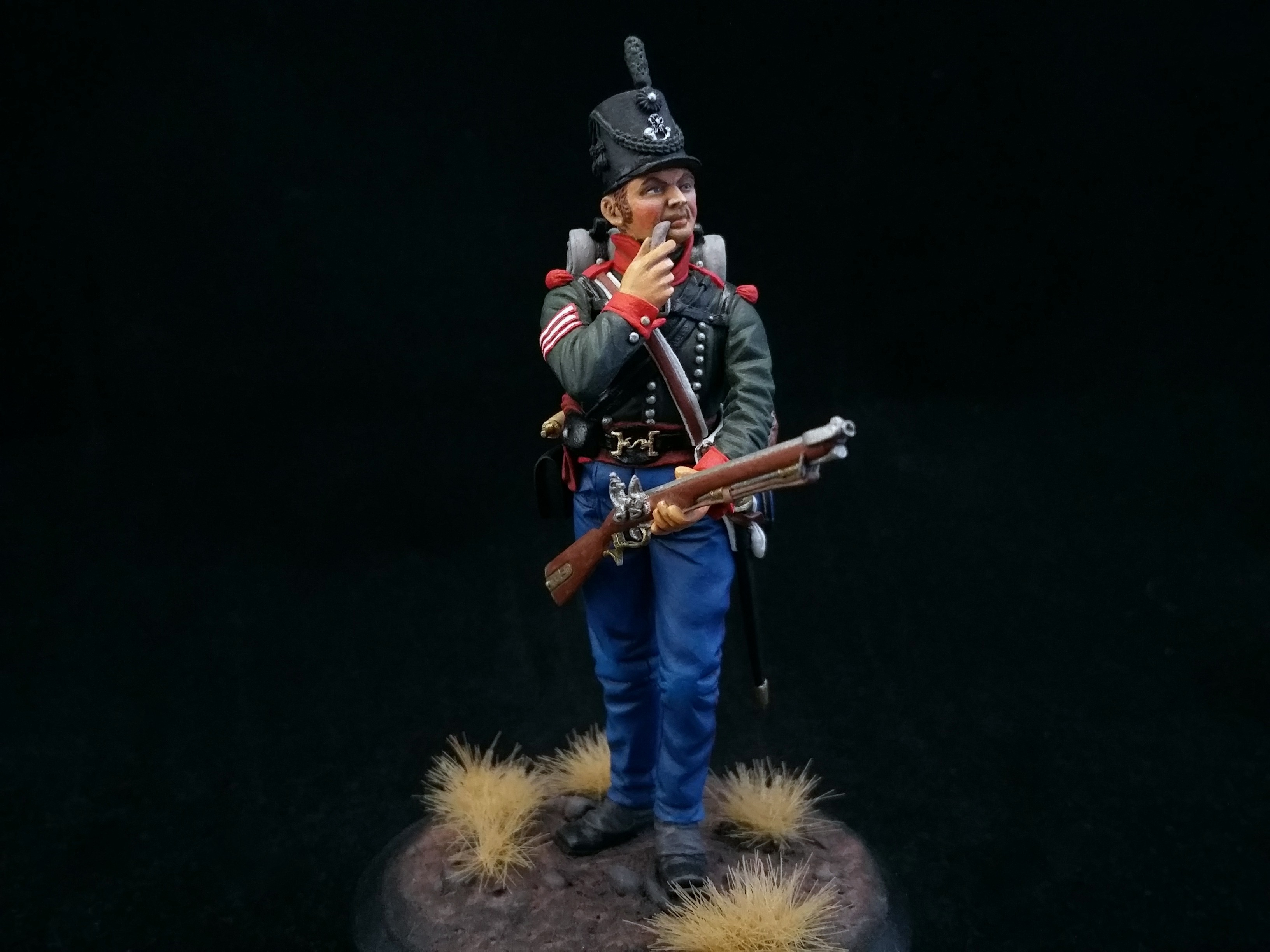 Sergeant of the 5th Battalion of the 60th (Royal American) Regiment. Great Britain; Painted figure 54 mm