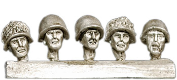 Russian helmeted heads, 28 mm