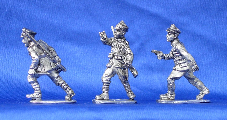 Polish infantry (set №5) - command group, 28 mm