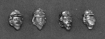 "Set of four female heads in cap ""maciejówka""; 28mm"