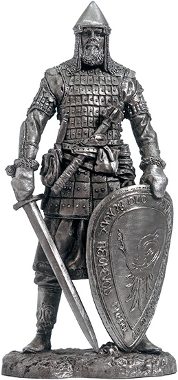 The warrior of the elder squad of Belozersky princes. Russia, 14th century; 75 mm