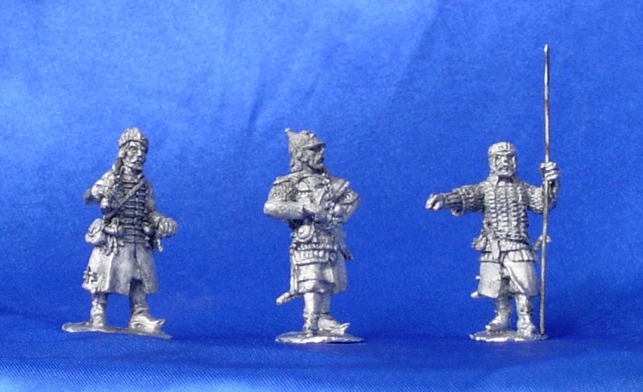 Cossacks. Command group (Ataman Yermak), XVI century; 28 mm