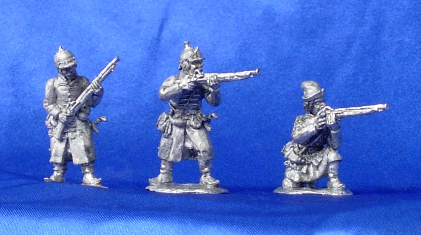 Cossacks with firearms, XVI century; 28 mm