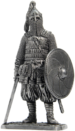 Warrior of the prince's squad. Russia, the 10 century; 54 mm