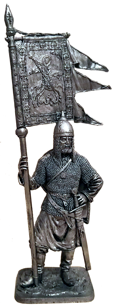 Russian warrior with the banner of St. George, 11-13 centuries; 54 mm