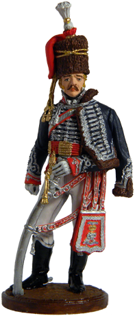 Officer of the 15th Hussars light Regiment of the King. United Kingdom, 1808-13; 54 mm