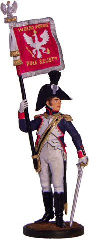 Officer 6th Infantry Regiment. Poland, 1810-14; 54 mm