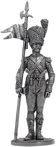 Senior Sergeant - 2nd Eagle Bearer, 7th Light Regiment. France, 1809; 54 mm