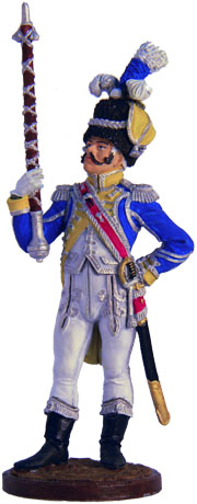 Drum Major Dutch Grenadiers of the Imperial Guard. France, 1810-11. 54 mm